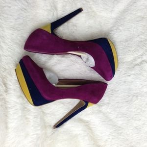 Color Block Pumps