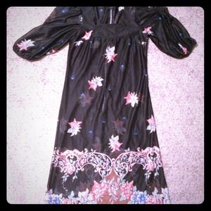 Vintage floral sheer dress or tunic
