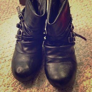 Cute black booties
