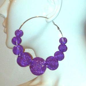 Fashionable hoop earrings!