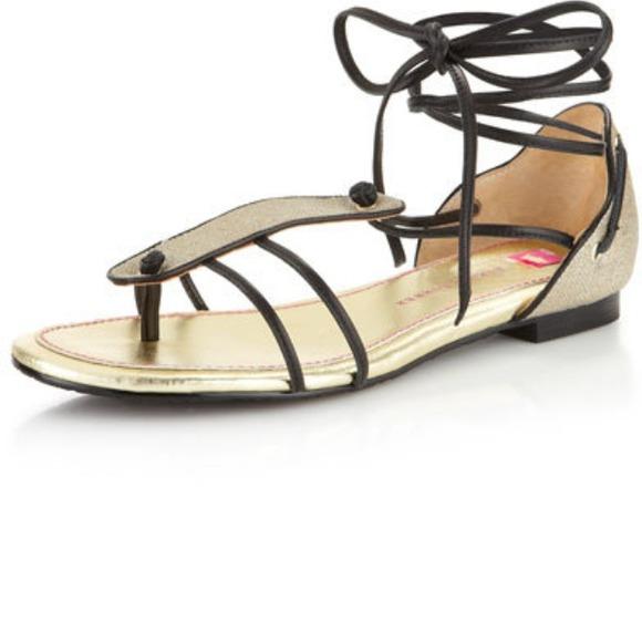 edd4eb1506fed Elaine Turner Naomi Linen Wrap-Ankle Sandal