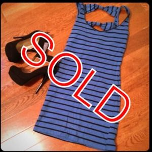 ❌Bundled❌Blue & black stripes body con dress