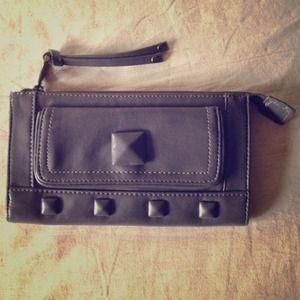 Grey studded purse/clutch. Cool!!