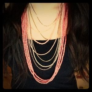 Pink necklace bundle