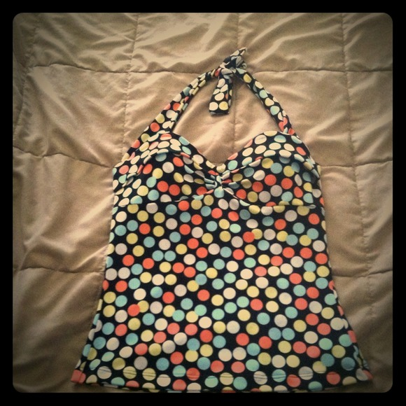 MODA INTERNATIONAL  Tops - 🔴😻Colorful polkadot halter topPRICE REDUCED🚨