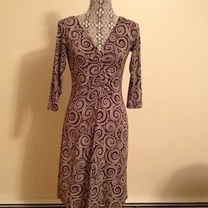 Chocolate swirl print jersey dress