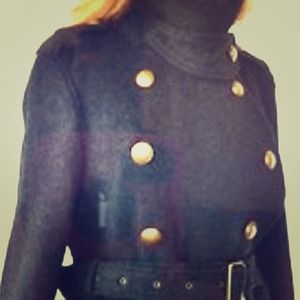 Nwt Burberry Brit Wool Nova Check military coat