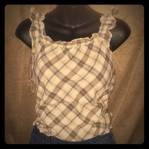 Outerwear - Cute plaid tank top