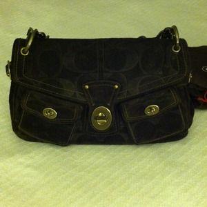 Vintage suede Coach Legacy purse
