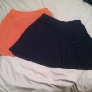 Forever 21 Dresses & Skirts - Sold!!!  Two pleated skirts. Peach and navy blue.