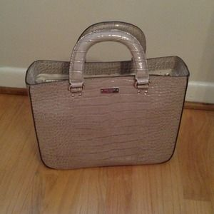 NWT authentic Kate Spade crocodile patent tote