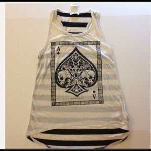 Tops - Skull ave of spades shirt