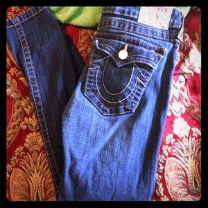 True religion skinny/straight jeans