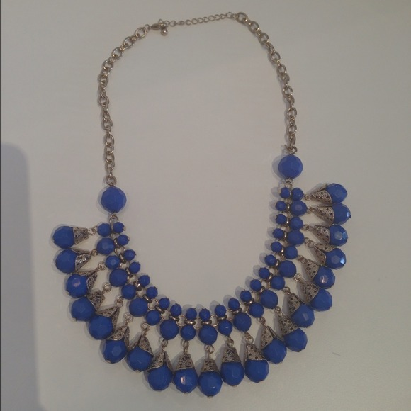 Jewelry - ❤Sold in bundle'❤Cobalt Blue Statement Necklace 2