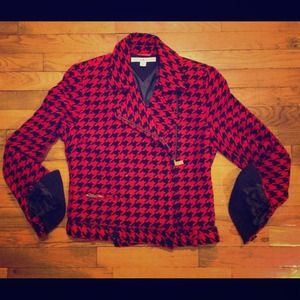 Reduced!! Tommy houndstooth moto jacket