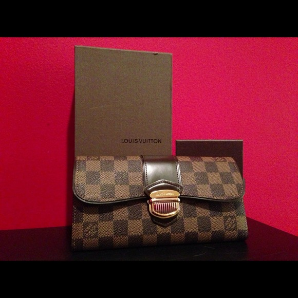 4d18364bddcf6 Louis Vuitton damier ebene sistina wallet