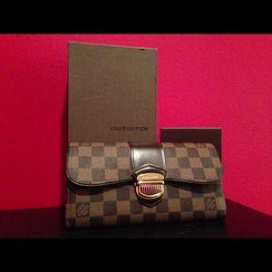 Louis Vuitton damier ebene sistina wallet