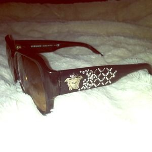 Versace Black plastic framed sunglasses