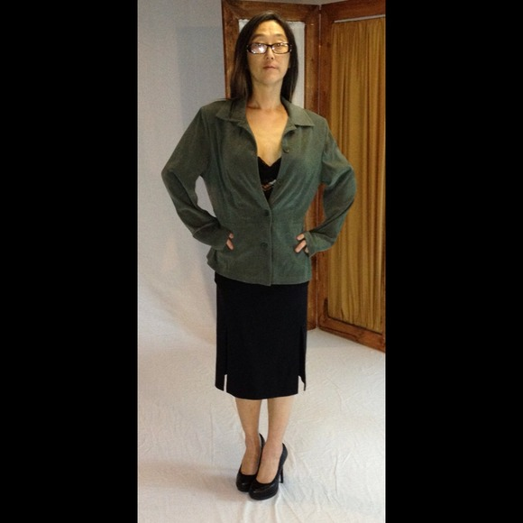 Jaclyn smith  Jackets & Blazers - Forest green blazer. JACLYN SMITH 4