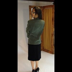 Jaclyn smith  Jackets & Coats - Forest green blazer. JACLYN SMITH 2
