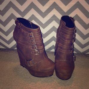 Boots - Michael Antonio Triple wedge heels