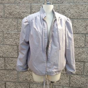 Vintage Gray Ruffle Jacket