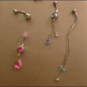 Navel piercings