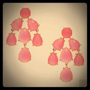 REDUCED!✨Kate Spade Pink Chandelier Earrings✨