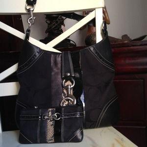 COACH BAG WITH MATCHING CLUTCH