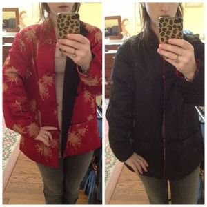 Chinese silk reversible coat