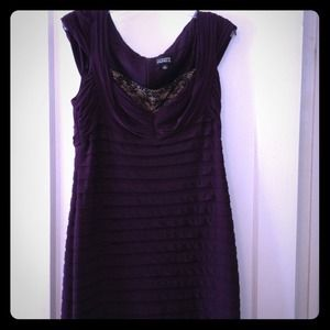 NWOT Adriana Papell Purple dress