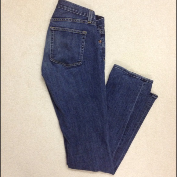 J. Crew medium fade boot cut jeans.