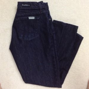 David Kane dark wash capris.