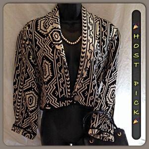 FLASHBACK Jackets & Blazers - ⭐️HOST PICK🌘 BOHO STYLE AZTEC PRINT 🌒
