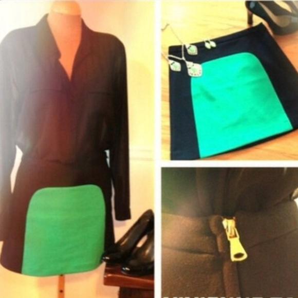 Vivienne Tam Dresses & Skirts - NEW Vivienne Tam Color Block Skirt