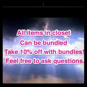 I bundle items 10% discount!