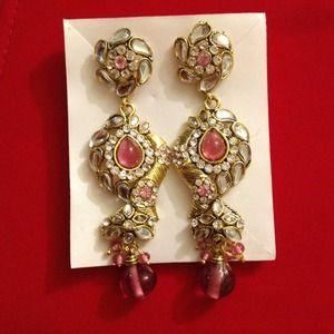 Pink hanging earrings !!