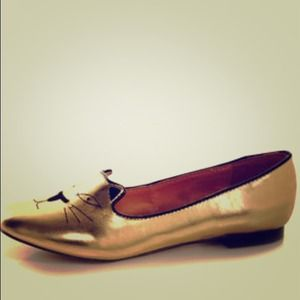 Shoes - $55 Gold kitty flats