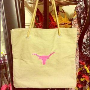 Handbags - Cute Pink Texas Longhorns Tote