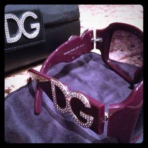 REDUCED!! Authentic D&G dark plum sunglasses