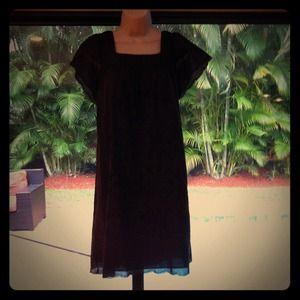 Chocolate brown smock dress