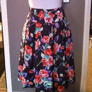 REDUCEd NWT Express 100 percent silk floral skirt