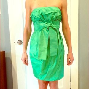Robert Rodriguez green origami dress