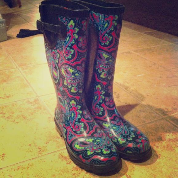 Capelli - Paisley rain boots! from Allison's closet on Poshmark