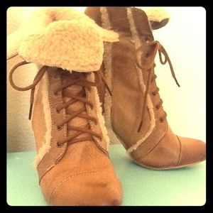 Forever 21 Boots - **RESERVED** for sruth857 Faux shearling boots