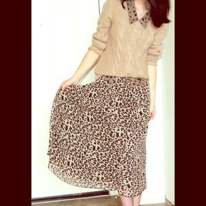 Forever 21 Dresses & Skirts - Leopard print maxi skirt