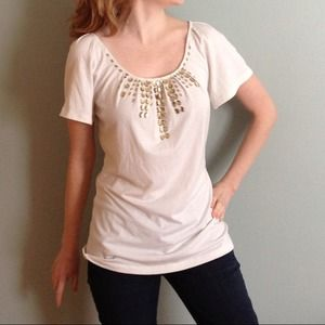 Ivory bling t-shirt