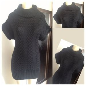 Dresses & Skirts - knitted short sleeve turtleneck sweater dress