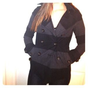 Gap grey and black peacoat