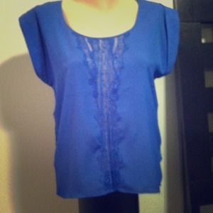 ***Sold***Blue detailed blouse